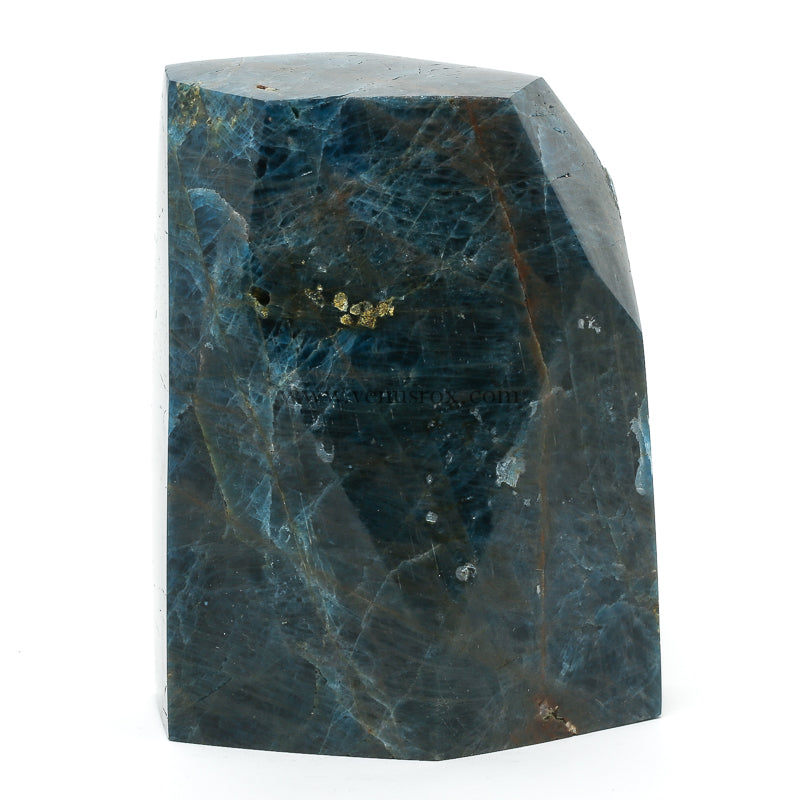 Blue Apatite Polished Crystal from Brazil | Venusrox