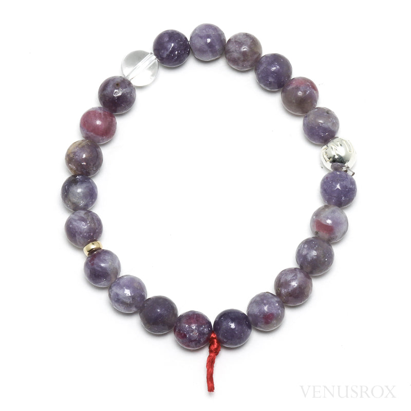 Lepidolite with Pink Tourmaline Bead Bracelet from Brazil | Venusrox