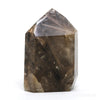 Smoky Rutilated Quartz with Hematite Polished Point from Brazil | Venusrox