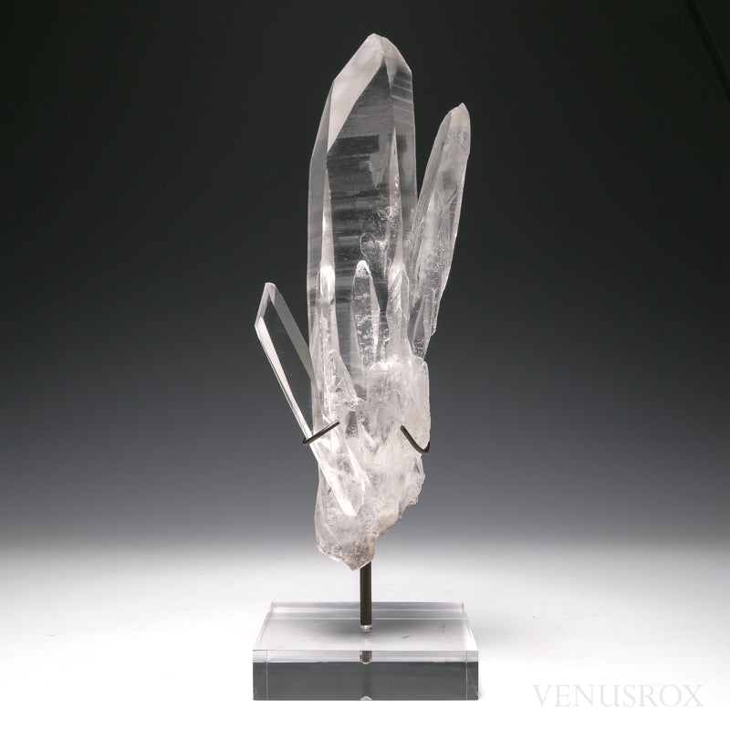 Lemurian Quartz Natural Cluster from Brazil mounted on a Bespoke Stand | Venusrox