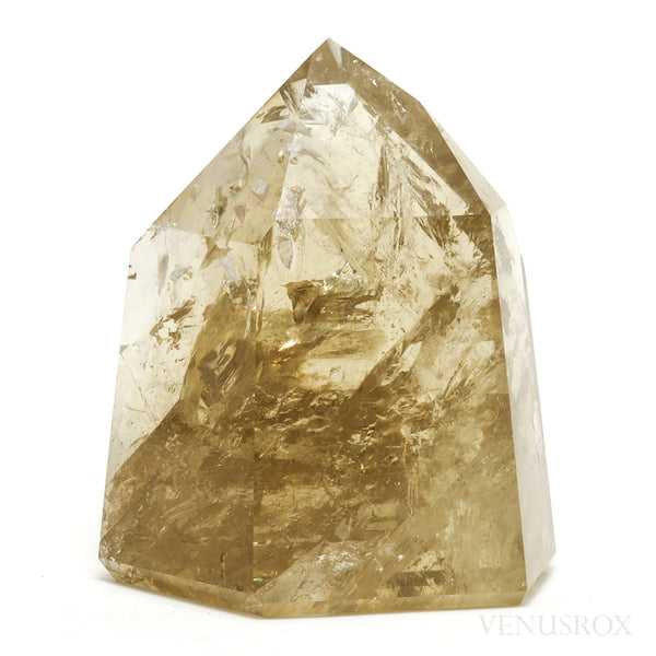 Natural Citrine Polished Point from the Morro Redondo Mine, Coronel Murta, Minas Gerais, Brazil | Venusrox