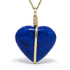 Lapis Lazuli Polished Heart Pendant from Afghanistan | Venusrox