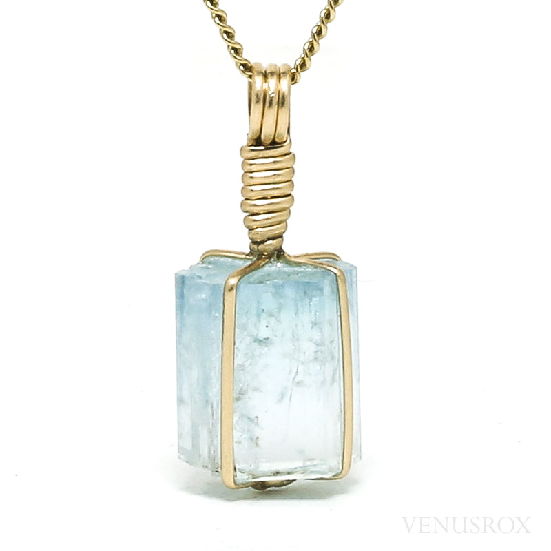 Aquamarine Natural Crystal Pendant from the Erongo Mountains, Namibia