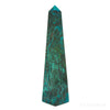 Chrysocolla and Malachite Polished Point from Peru | Venusrox