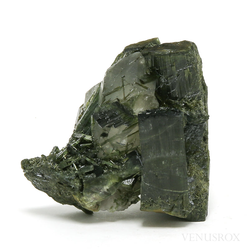 Green Tourmaline with Cathedral Quartz Natural Cluster from Brazil | Venusrox