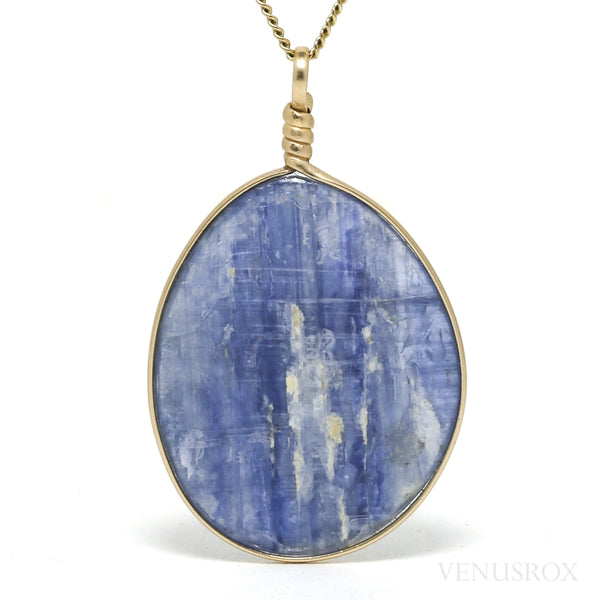 Blue Kyanite Polished Crystal Pendant from Russia | Venusrox