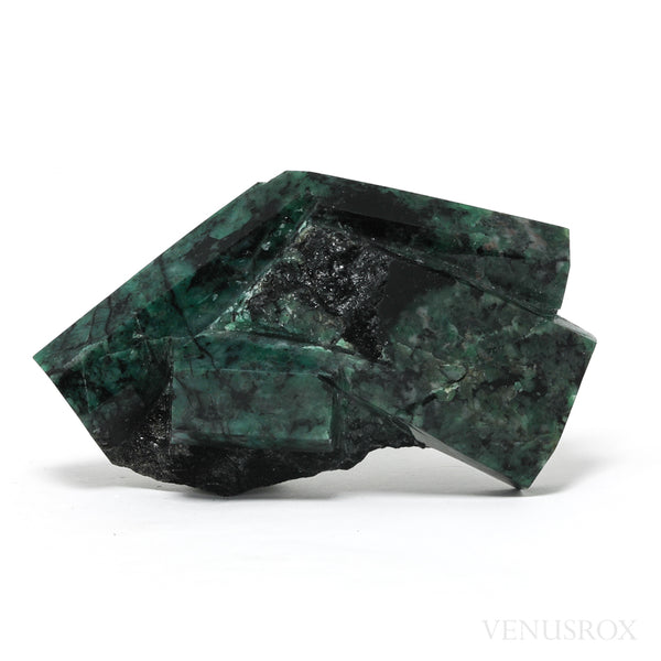 Emerald with Biotite Matrix Polished/Natural Crystal from Brazil | Venusrox
