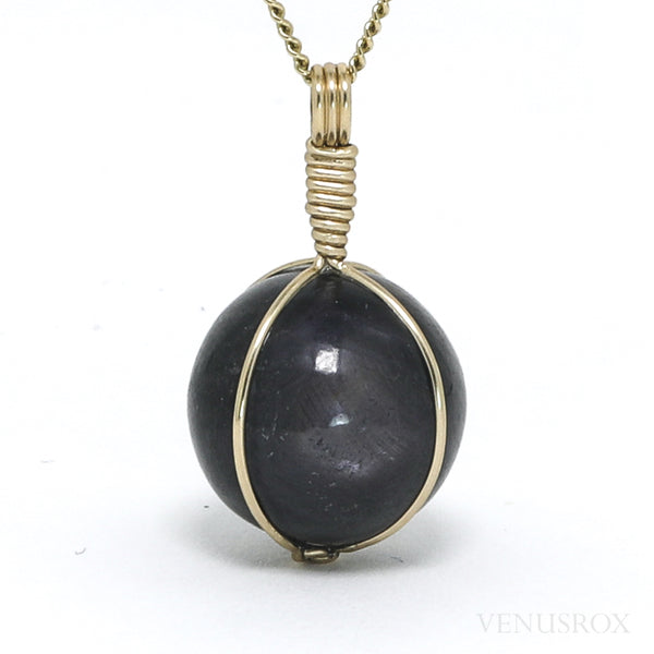 Star Sapphire Polished Sphere Pendant from India | Venusrox