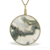 Moss Agate Polished Crystal Pendant from India | Venusrox