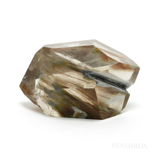 Amphibole Quartz (Angel Phantom Quartz) Double Terminated Part Polished/Part Natural Point from Brazil | Venusrox