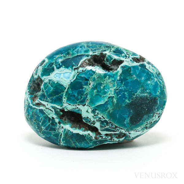 Chrysocolla with Matrix Part Polished/Part Natural Crystal from Peru | Venusrox