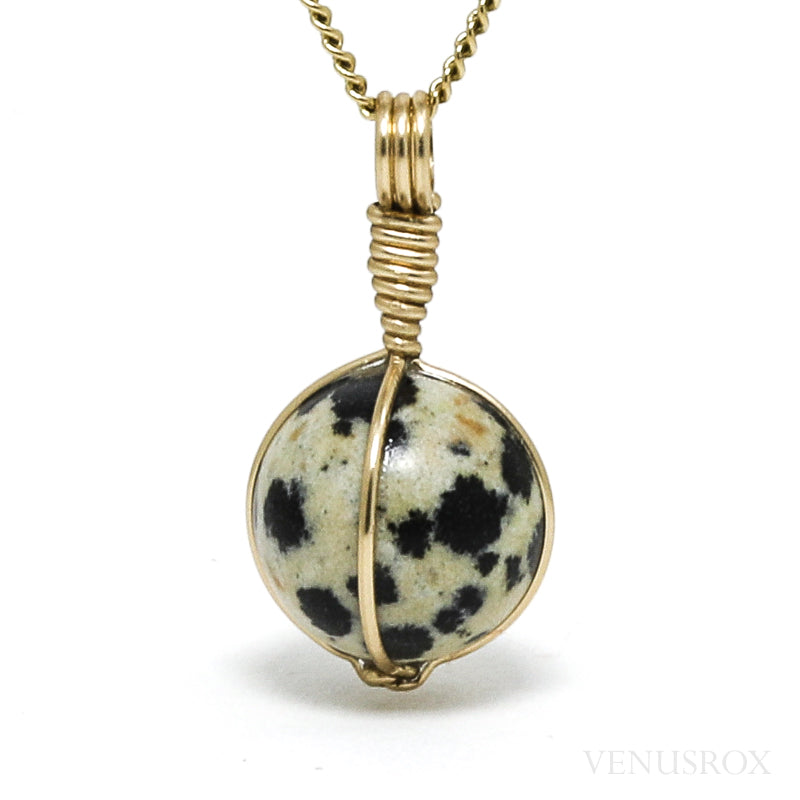 Dalmatian Jasper Polished Sphere Pendant from China | Venusrox