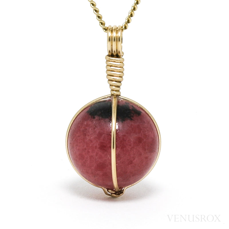 Rhodonite Polished Sphere Pendant from Madagascar | Venusrox