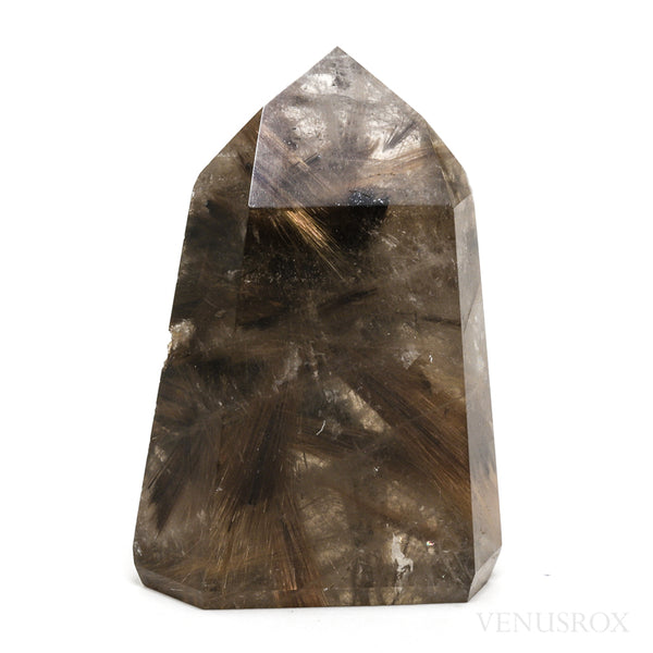 Rutilated Quartz with Hematite Part Polished/Part Natural Point from Brazil | Venusrox