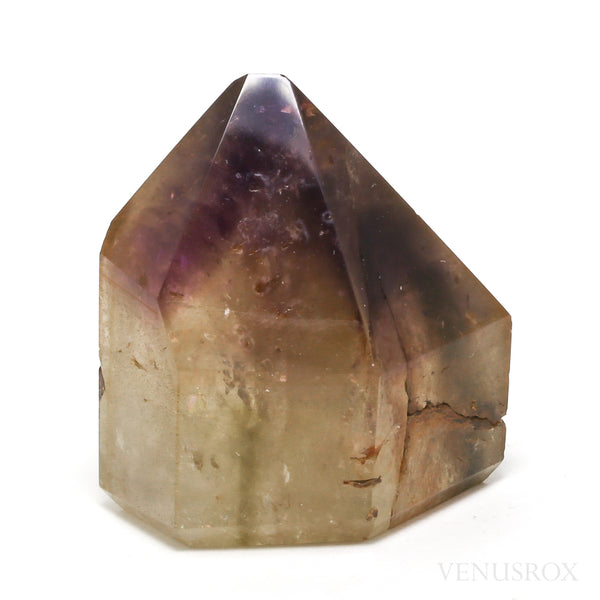Amethyst and Hematite Phantom Citrine Polished Point from Cristalina, Goiás, Brazil | Venusrox