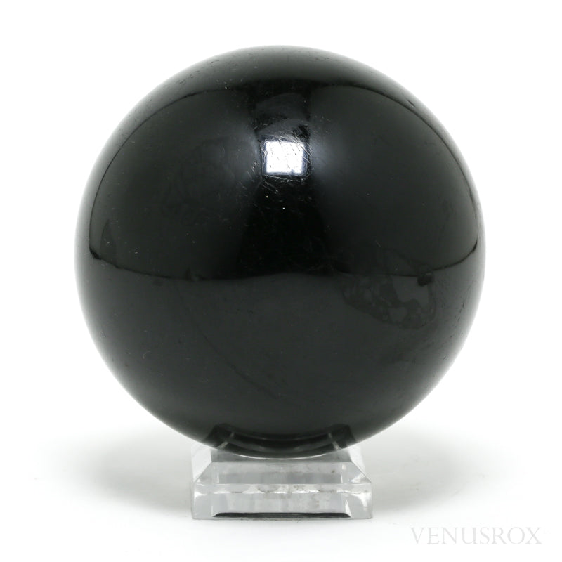 Black Tourmaline Polished Sphere from Madagascar | Venusrox