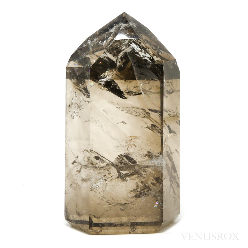 Smoky Phantom Quartz Polished Point from Brazil | Venusrox