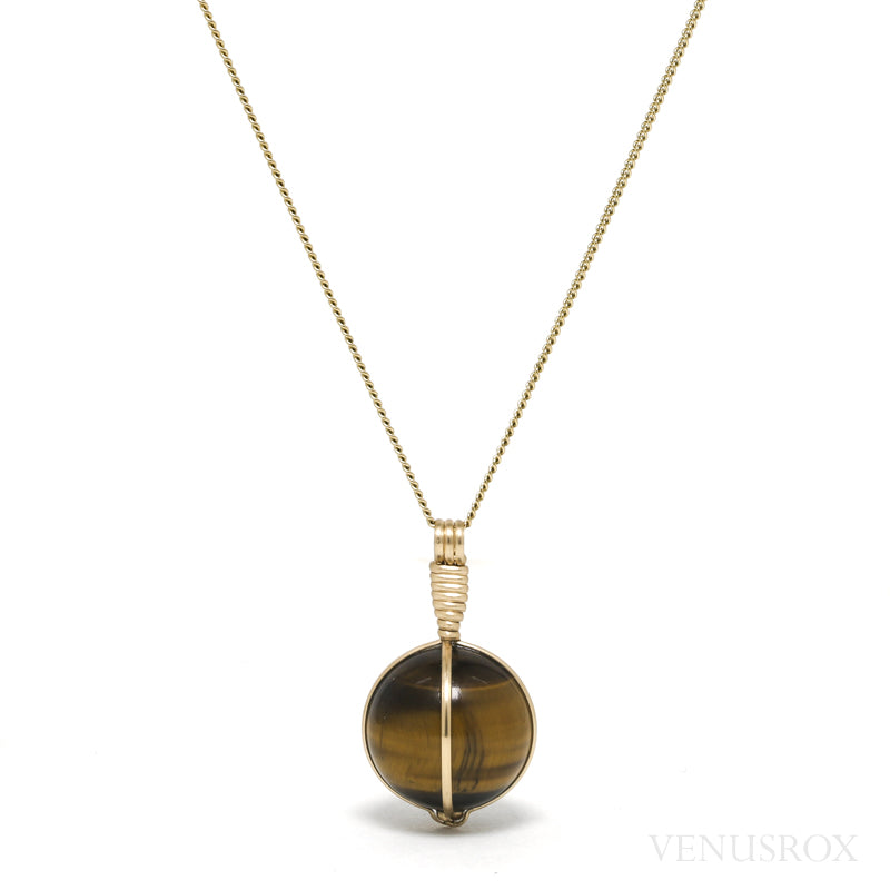 Tigers Eye Polished Sphere Pendant from South Africa | Venusrox