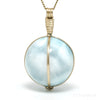 Larimar Polished Sphere Pendant from Dominican Republic, Caribbean Sea | Venusrox