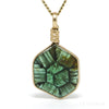 Green Trapiche Tourmaline Polished Slice Pendant from Zambia | Venusrox