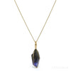 Natural (unheated) Tanzanite Crystal Pendant from Merelani Hills, Tanzania | Venusrox