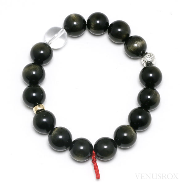 Gold Sheen Obsidian Bead Bracelet from Mexico | Venusrox