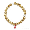 Golden Rutilated Quartz Bracelet from Brazil | Venusrox