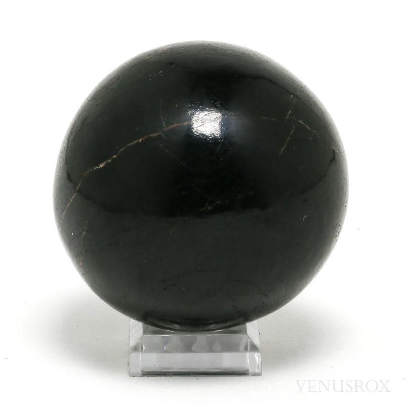 Black Tourmaline Polished Sphere from India | Venusrox