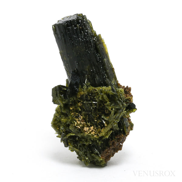Epidote with Axinite on Matrix Natural Specimen from Cullhuay, Lima Department, Peru | Venusrox