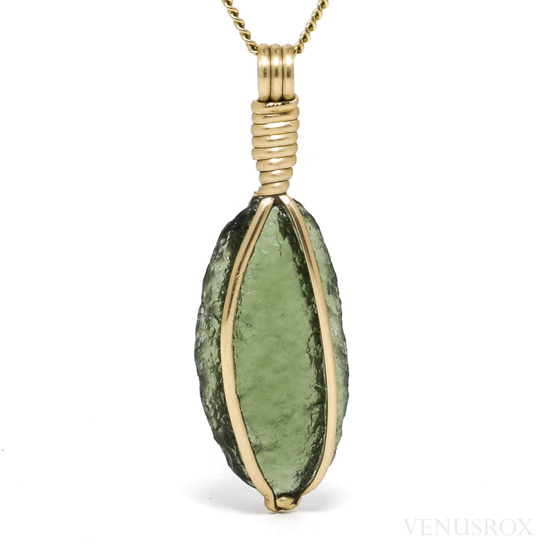 Natural Moldavite Crystal Pendant from Maly Chlum, Czech Republic | Venusrox