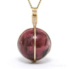 Gem Rhodonite Polished Sphere Pendant from Brazil | Venusrox