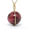 em Rhodonite Polished Sphere Pendant from Brazil | Venusrox