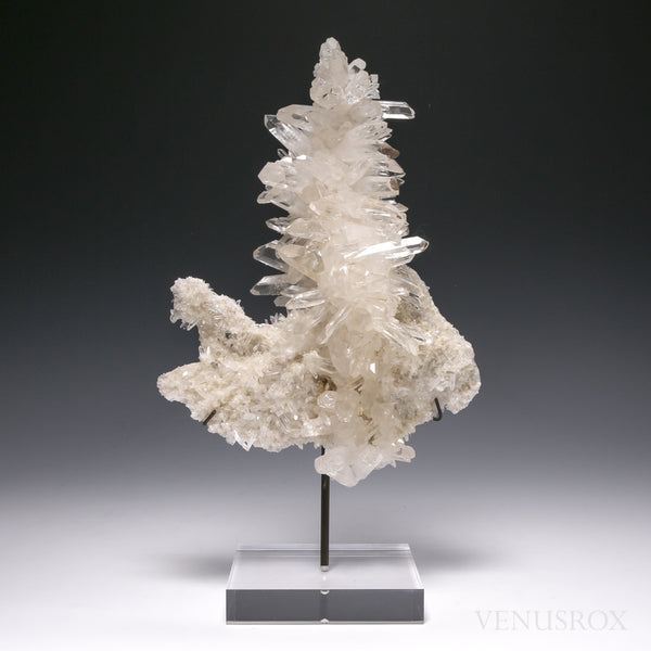 Himalayan Quartz Natural Cluster from Kullu Valley, Himachal Pradesh, Himalayan Foothills, Northern India, mounted on a bespoke stand | Venusrox