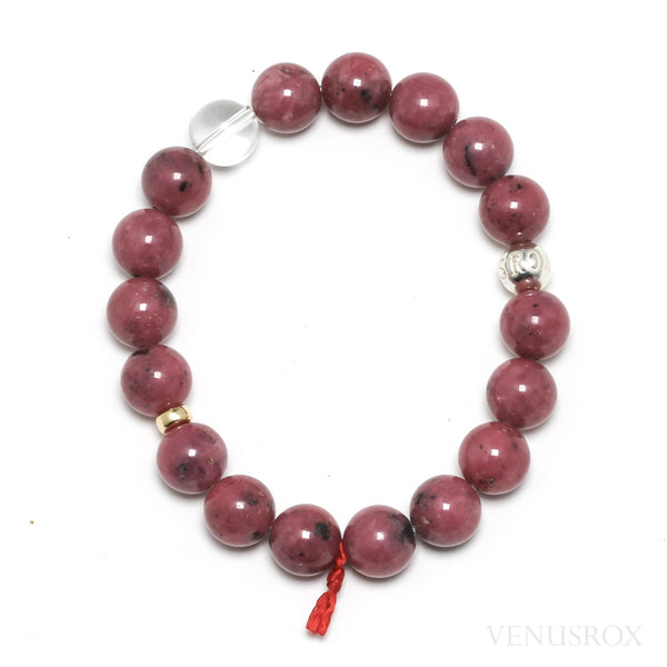 Rhodonite Bead Bracelet from Brazil | Venusrox