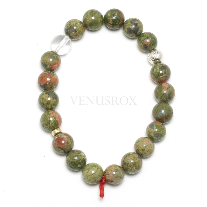 Unakite Bead Bracelet from South Africa | Venusrox