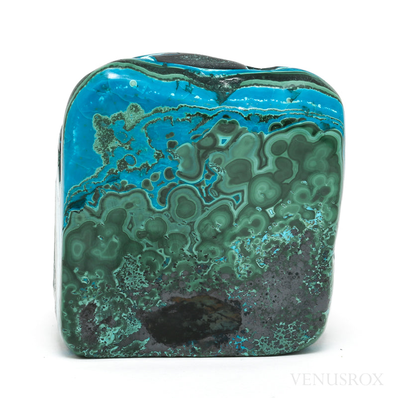 Chrysocolla and Malachite Polished Crystal from the Democratic Republic of Congo | Venusrox