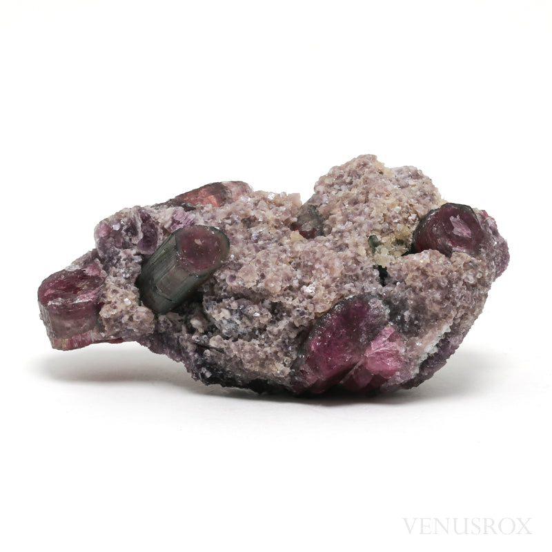 Watermelon & Pink Tourmaline with Lepidolite Natural Crystal from Brazil | Venusrox