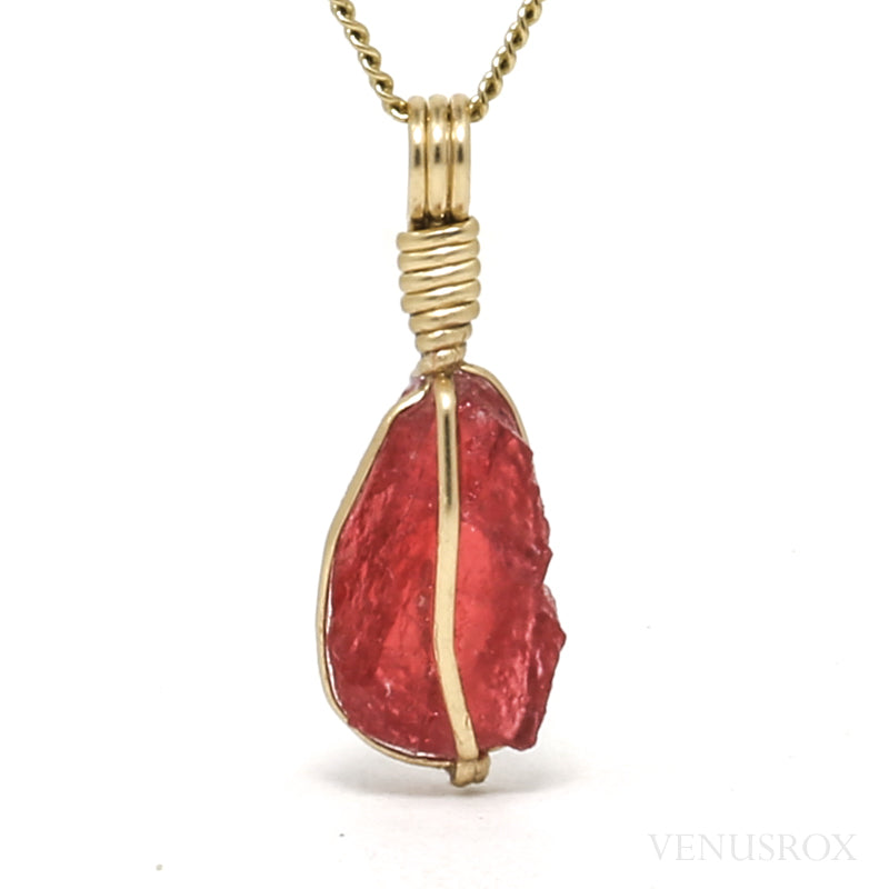 Gem Rhodonite Natural Crystal Pendant from Brazil | Venusrox