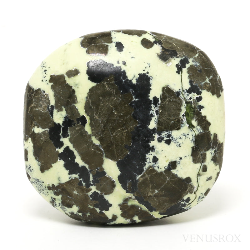 Serpentine with Pyrite Polished Crystal from Peru | Venusrox