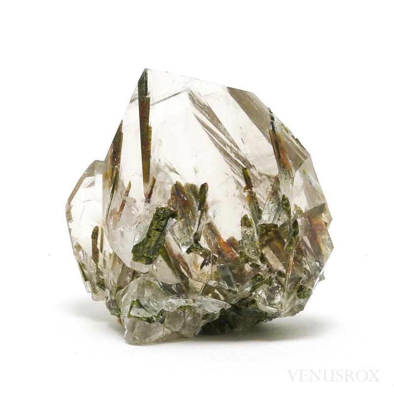 Clear Quartz with Epidote Part Polished/Part Natural Point from Brazil | Venusrox