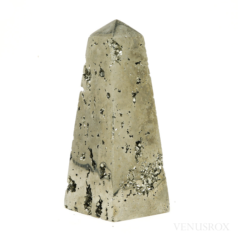 Pyrite Polished/Natural Geode Point from Peru | Venusrox