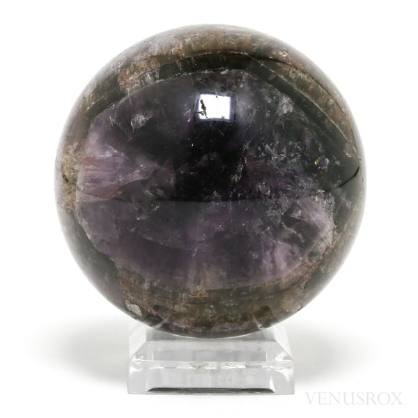 Amethyst with Cacoxenite (Also known as Super Seven) Polished Sphere from Brazil | Venusrox