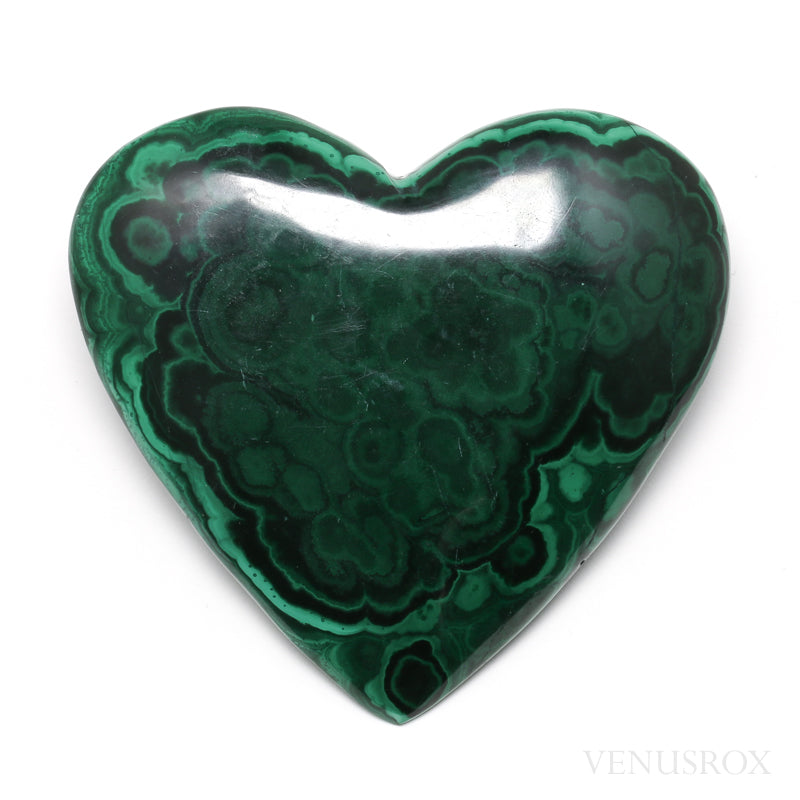 Malachite Polished Heart from the Democratic Republic of Congo | Venusrox