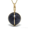 Iolite Polished Sphere Pendant from India | Venusrox