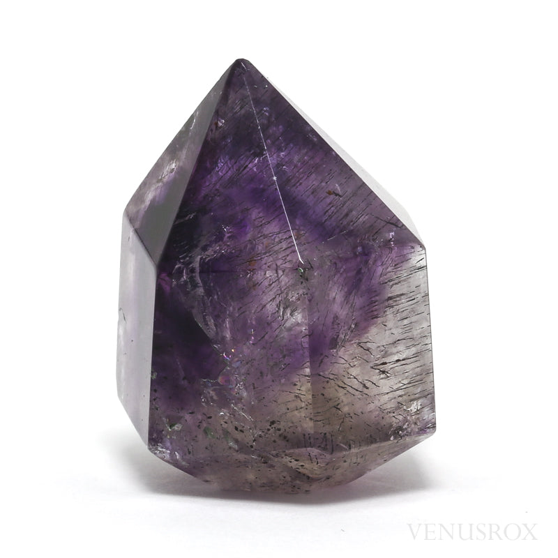 Amethyst Phantom Elestial Polished Point from the Kakamunurle Mine, Karur District, Tamil Nadu, India | Venusrox