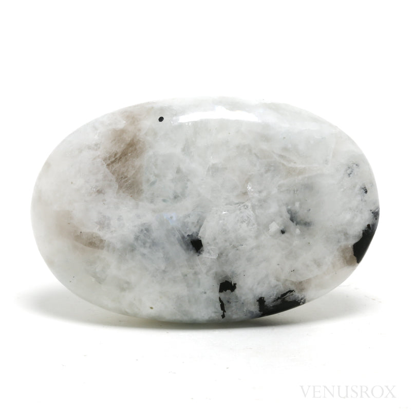 Rainbow Moonstone with Black Tourmaline Polished Crystal from India | Venusrox
