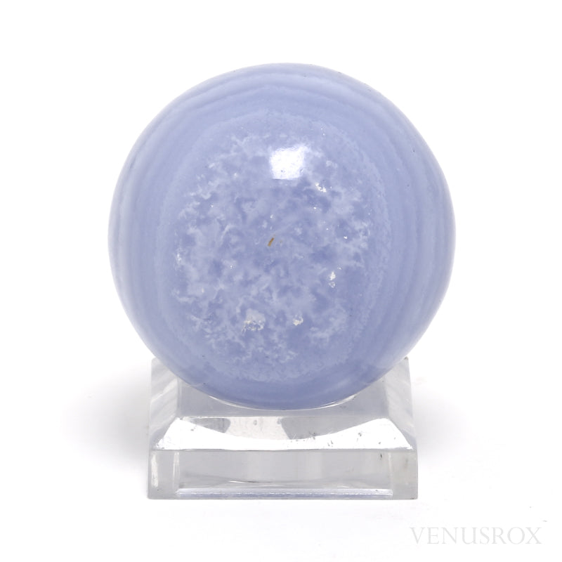 Blue Lace Agate Polished Sphere from Namibia | Venusrox