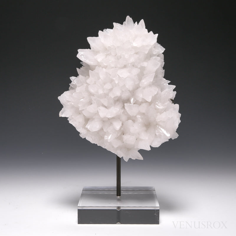 Calcite Natural Cluster from Peru mounted on a bespoke stand | Venusrox