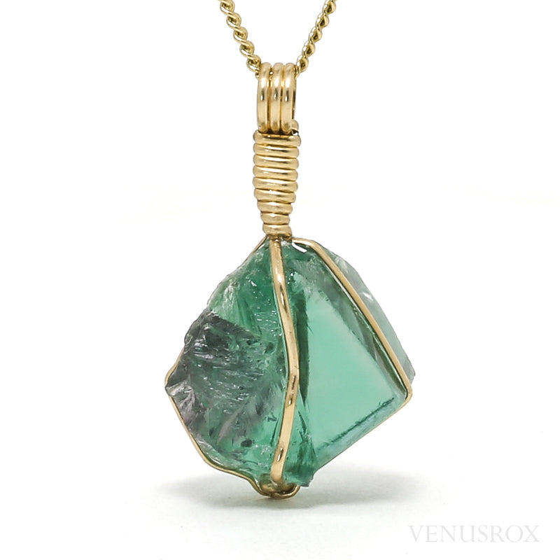 Green Fluorite Natural Crystal Pendant from Rogerley Mine, Weardale, England | Venusrox