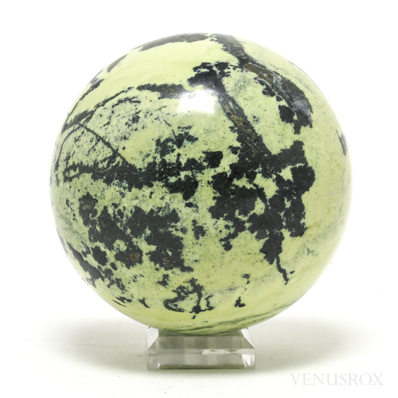 Serpentine with Pyrite Polished Sphere from Peru | Venusrox